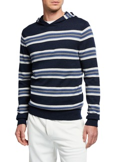 Vince Men's Striped Pullover Hoodie