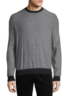 Vince Men's Striped Wool-Cashmere Sweater