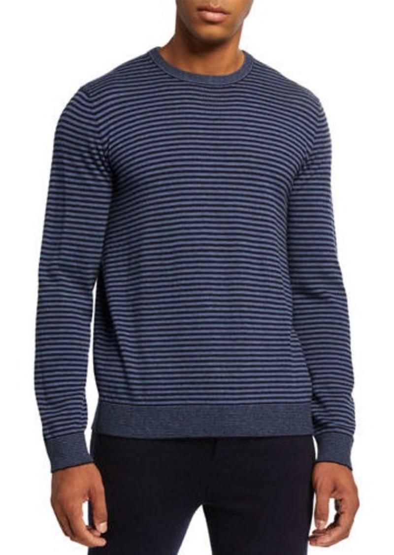 Vince Men's Striped Wool Crewneck Sweater
