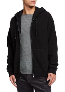 Vince Men's Teddy Terry Zip-Up Hoodie Sweatshirt