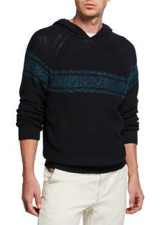 Vince Men's Textured Stripe Pullover Hoodie
