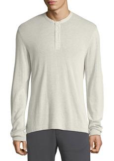 Vince Men's Thermal Cotton Henley Shirt