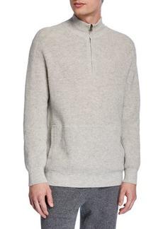Vince Men's Thermal Quarter-Zip Sweater