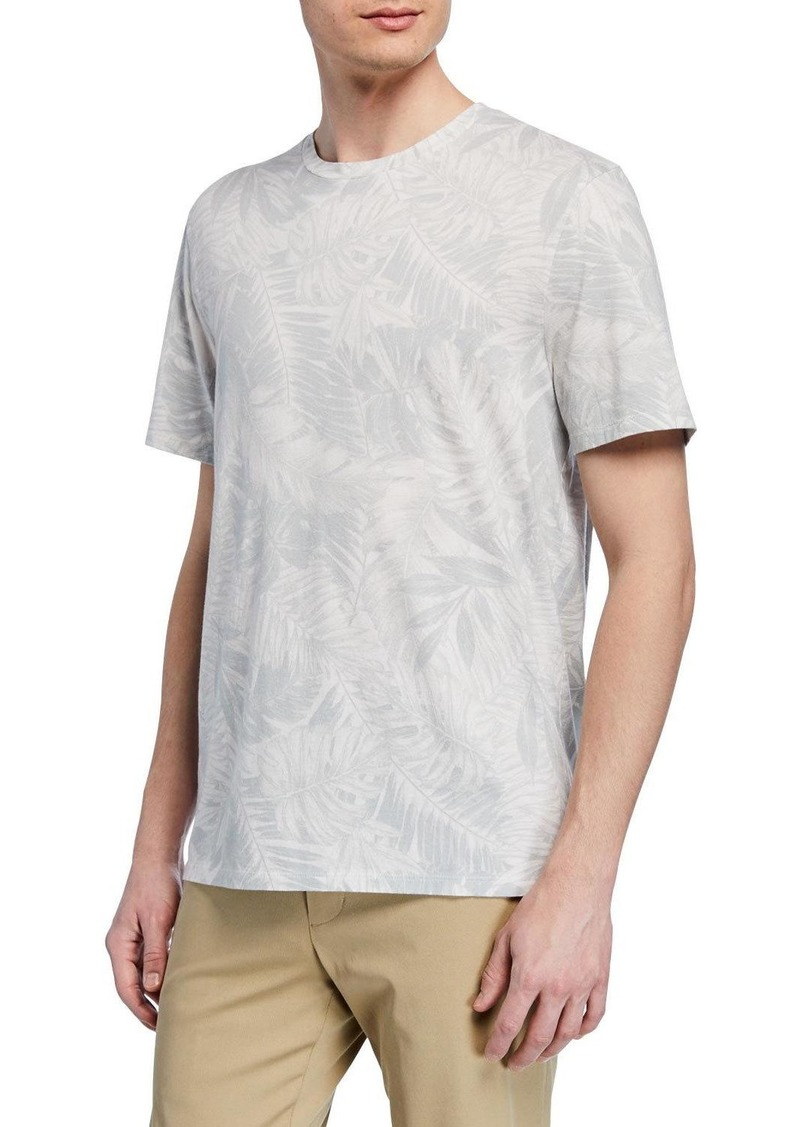 Vince Men's Tonal Palm-Print Short-Sleeve Crewneck Tee