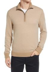 Men's Vince Bird's Eye Quarter Zip Wool & Cashmere Pullover