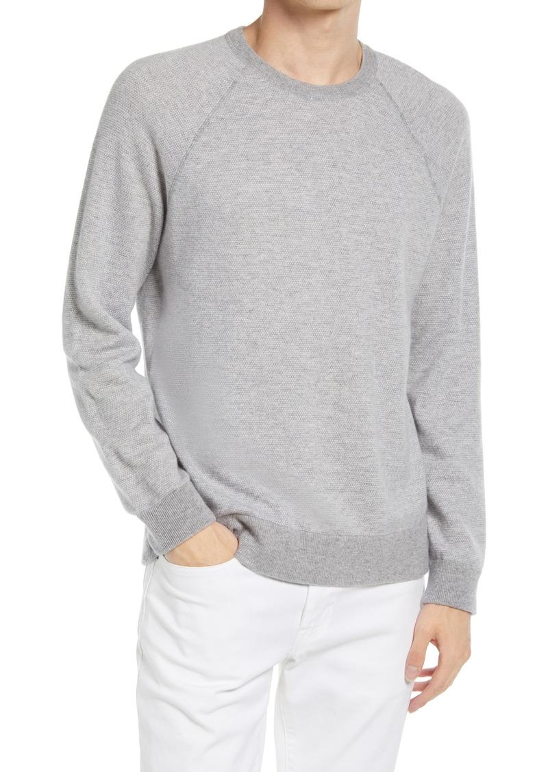 Men's Vince Bird's Eye Wool & Cashmere Pullover