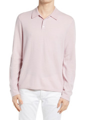 Men's Vince Birdseye Long Sleeve Polo Shirt