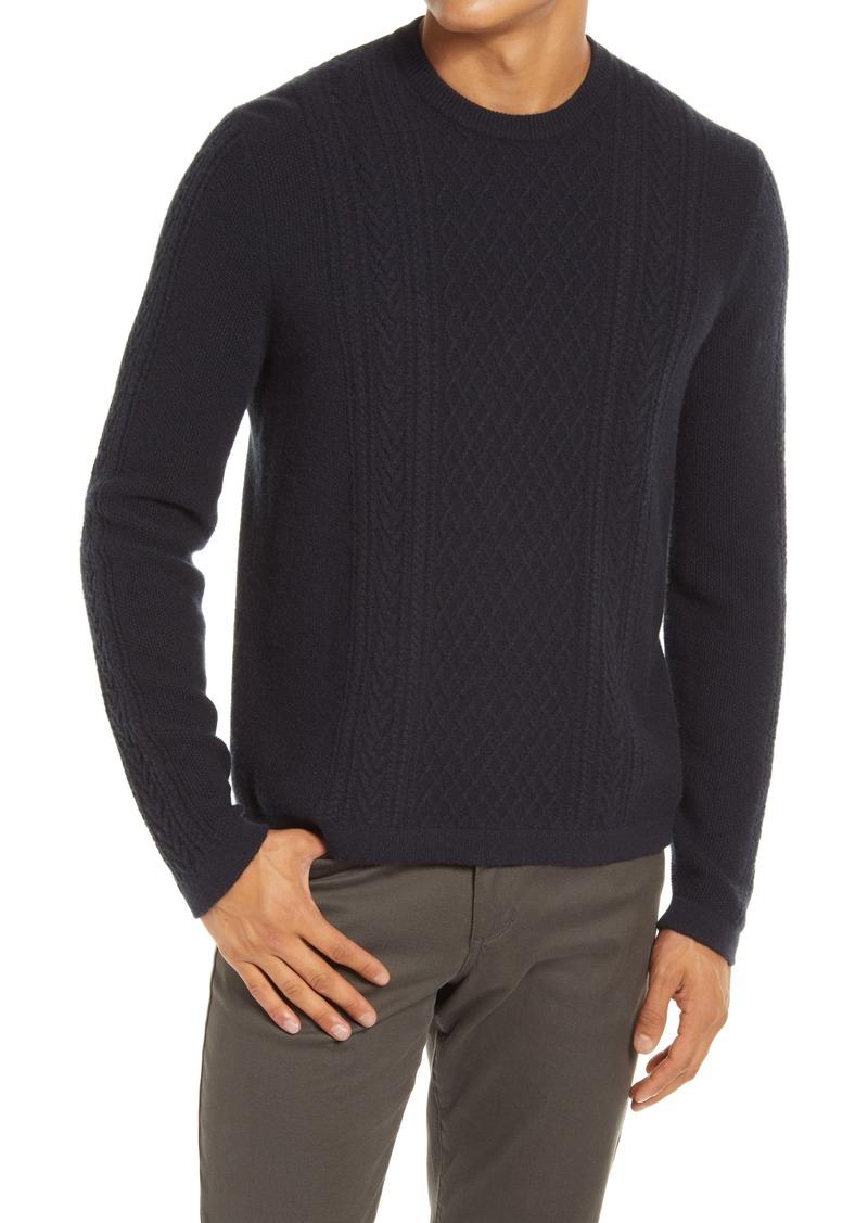 Men's Vince Cable Knit Crewneck Wool & Cashmere Sweater