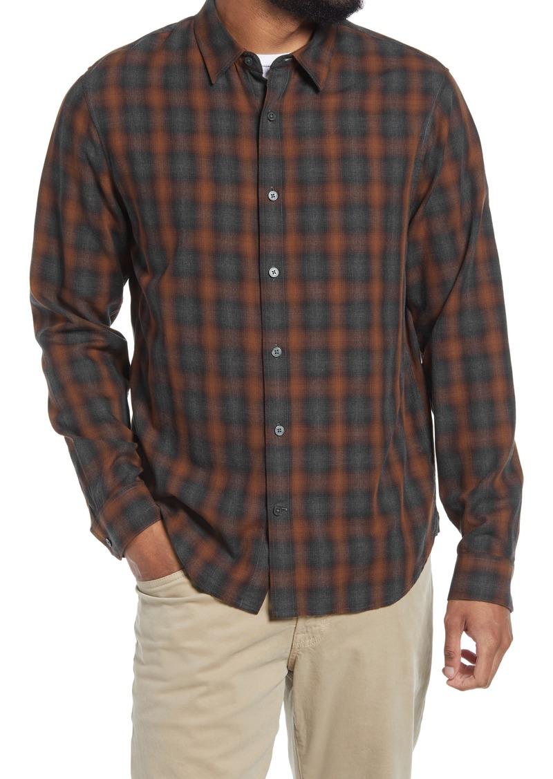 Men's Vince Canyon Shadow Plaid Button-Up Shirt