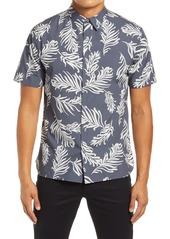 Vince Classic Fit Leaf Print Men's Short Sleeve Button-Up Shirt