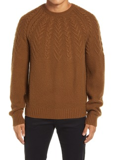 Men's Vince Crewneck Cable Wool & Cashmere Sweater