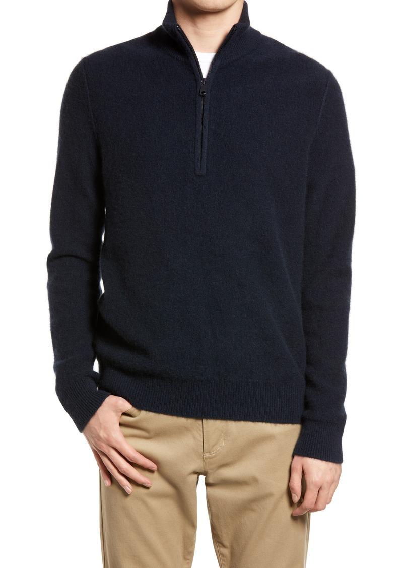 Men's Vince Half Zip Cashmere Sweater
