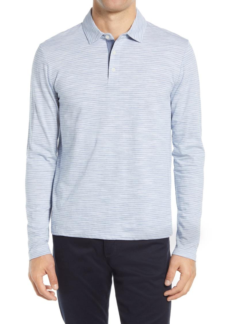 Men's Vince Long Sleeve Stripe Polo Shirt