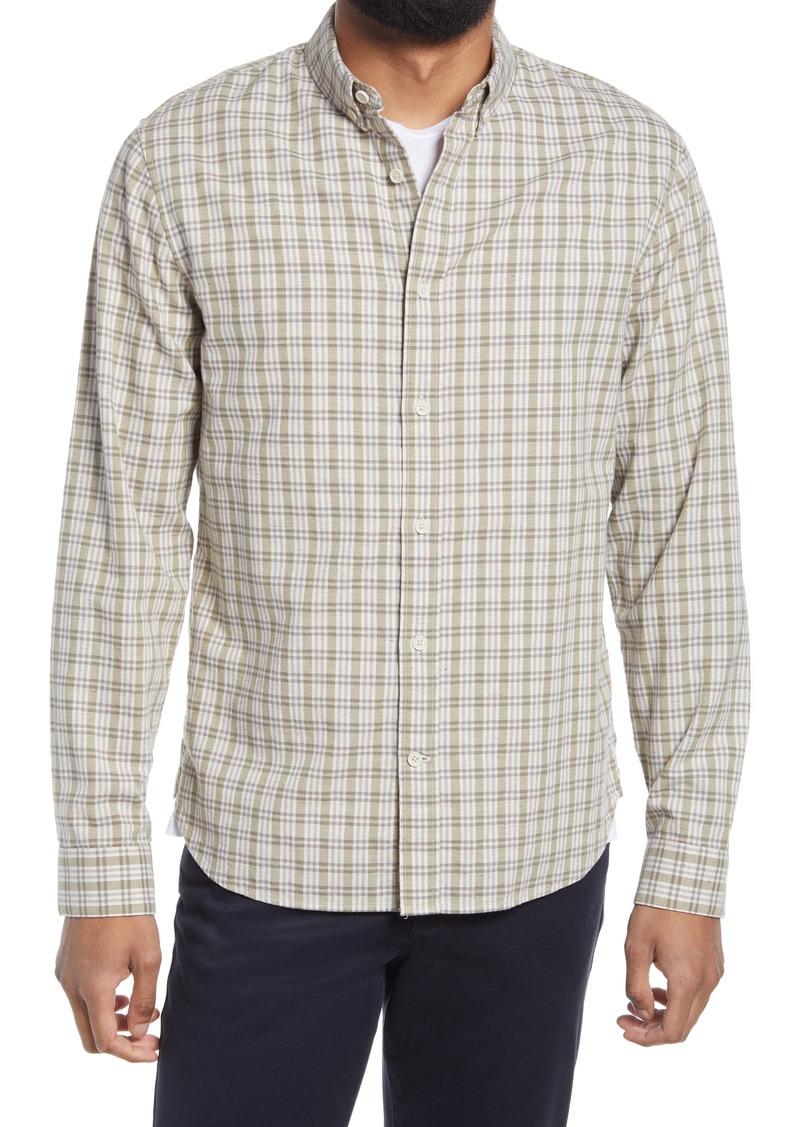 Men's Vince Plaid Button-Down Oxford Shirt