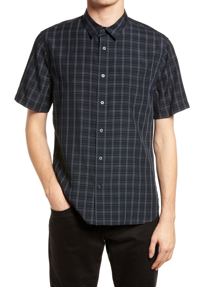 Men's Vince Plaid Graph Short Sleeve Button-Up Shirt