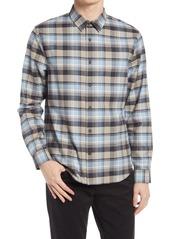 Men's Vince Plaid Soft Cotton Button-Up Shirt