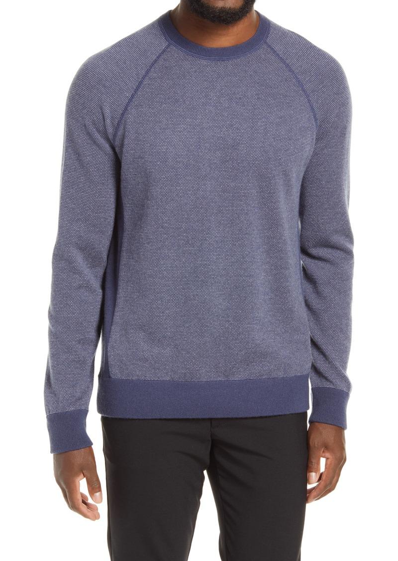 Men's Vince Bird's Eye Stitch Wool & Cashmere Sweater