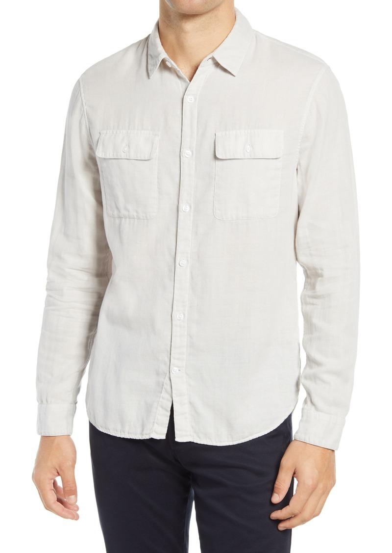 Men's Vince Classic Fit Button-Up Shirt
