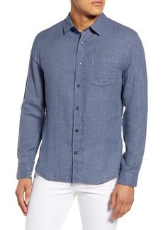 Men's Vince Regular Fit Double Face Button-Up Shirt