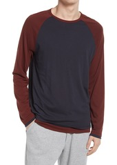 Men's Vince Regular Fit Double Layer Baseball Crewneck Shirt