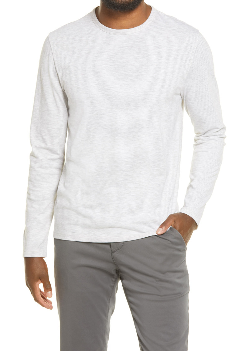 Men's Vince Regular Fit Feeder Stripe Slub Long Sleeve T-Shirt