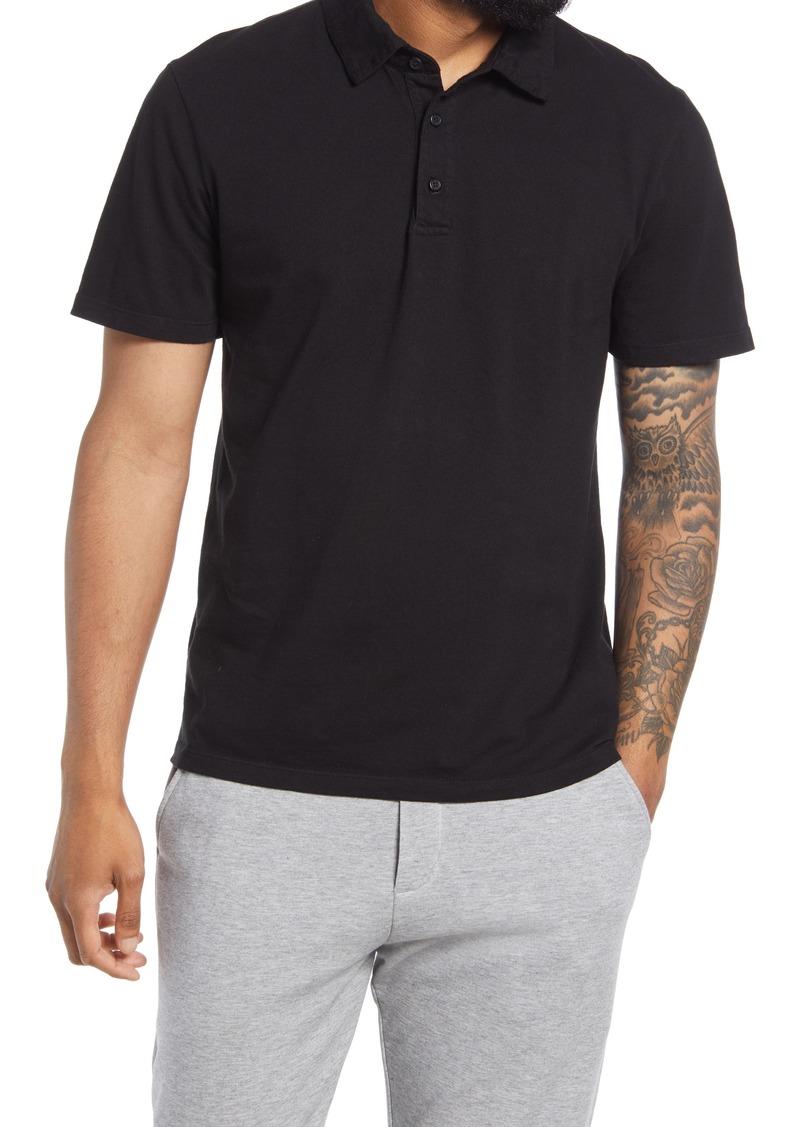 Vince Regular Fit Garment Dyed Cotton Polo Shirt