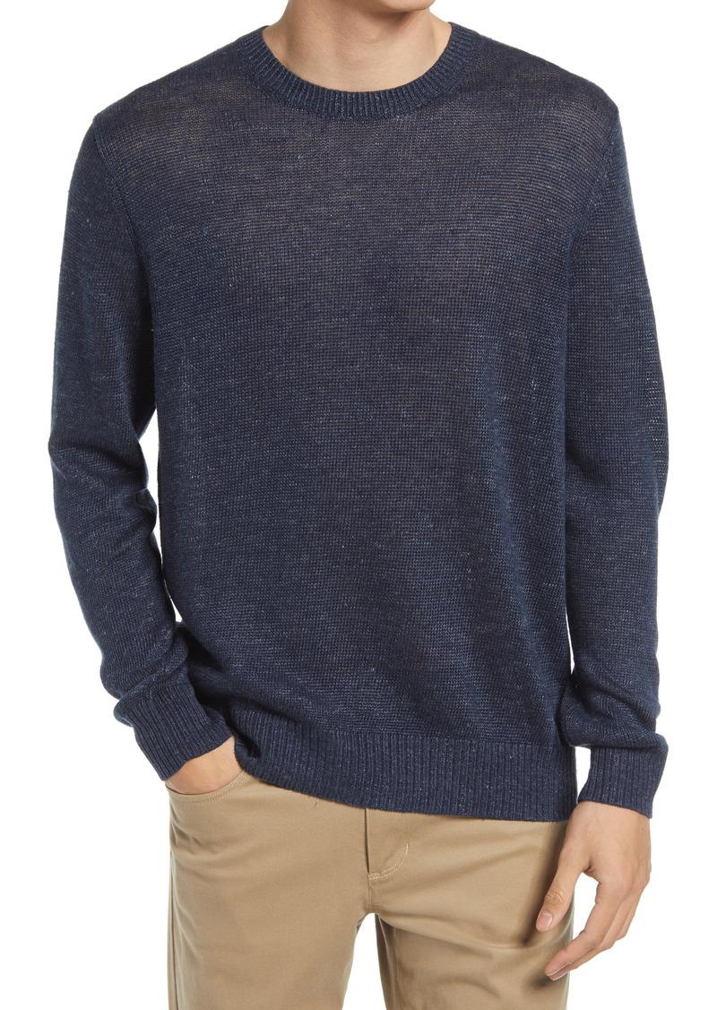 Men's Vince Regular Fit Linen Melange Crewneck Sweater