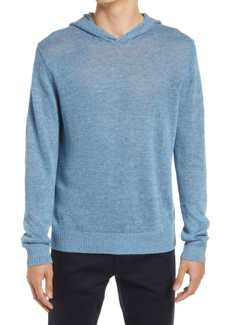 Men's Vince Regular Fit Linen Melange Hooded Sweater