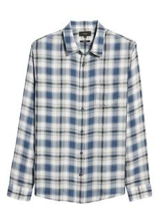 Men's Vince Regular Fit Plaid Twill Button-Up Shirt