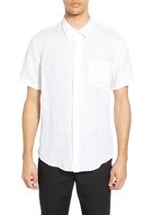 Men's Vince Regular Fit Short Sleeve Linen Sport Shirt