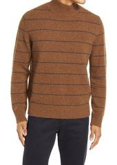 Men's Vince Stripe Mock Neck Wool Blend Sweater