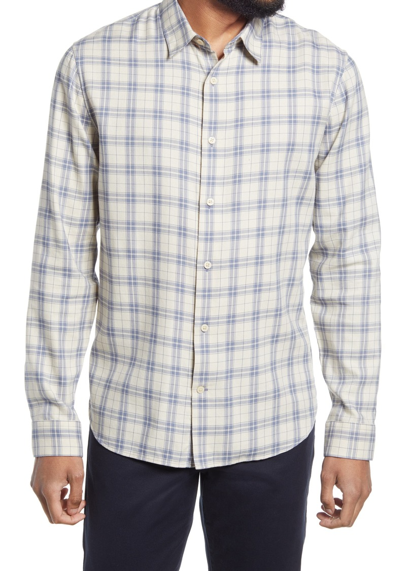 Men's Vince Weekday Plaid Long-Sleeve Button-Up Shirt