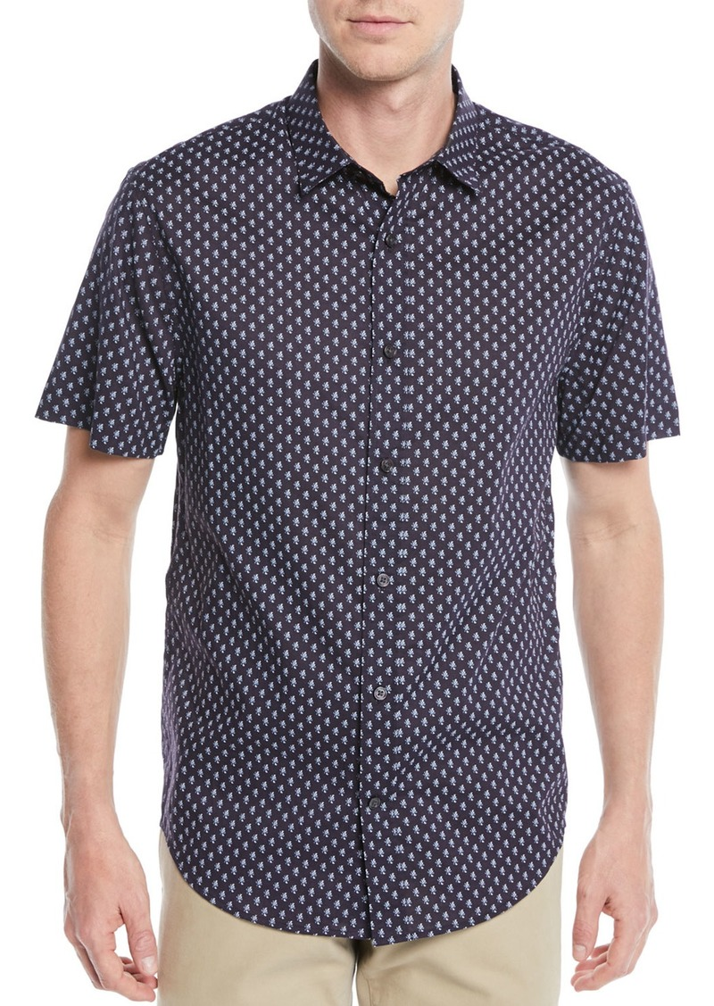 Vince Men's Vintage-Print Short-Sleeve Sport Shirt