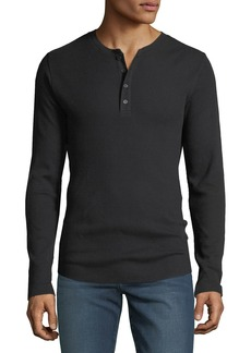 Vince Men's Waffle-Knit Thermal Henley Shirt