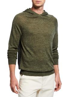 Vince Men's Wool/Linen Pullover Hoodie