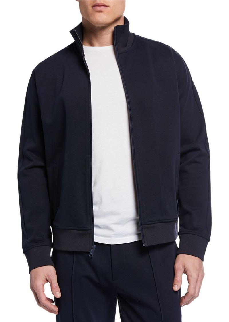 Vince Men's Zip-Front Structured Cotton Track Jacket