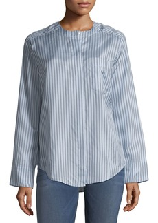 Vince Menswear Striped Silk Shirt