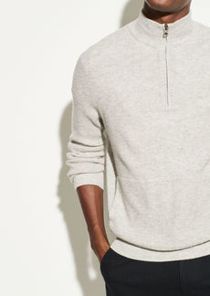 Vince Merino Cashmere Thermal Quarter Zip