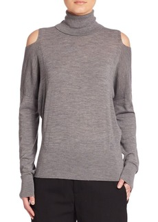 Vince Merino Wool Blend Long Sleeve Top