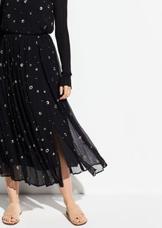 Vince Metallic Embroidery Skirt