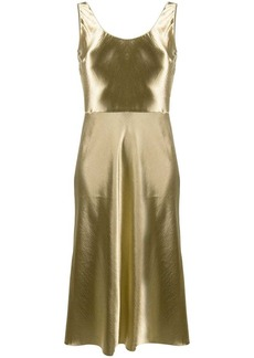 Vince Metallic Fluster midi dress