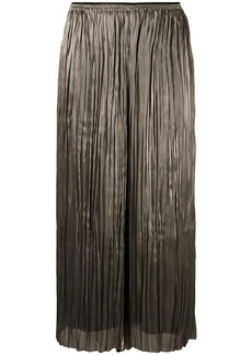 Vince metallic pleated culotte trousers