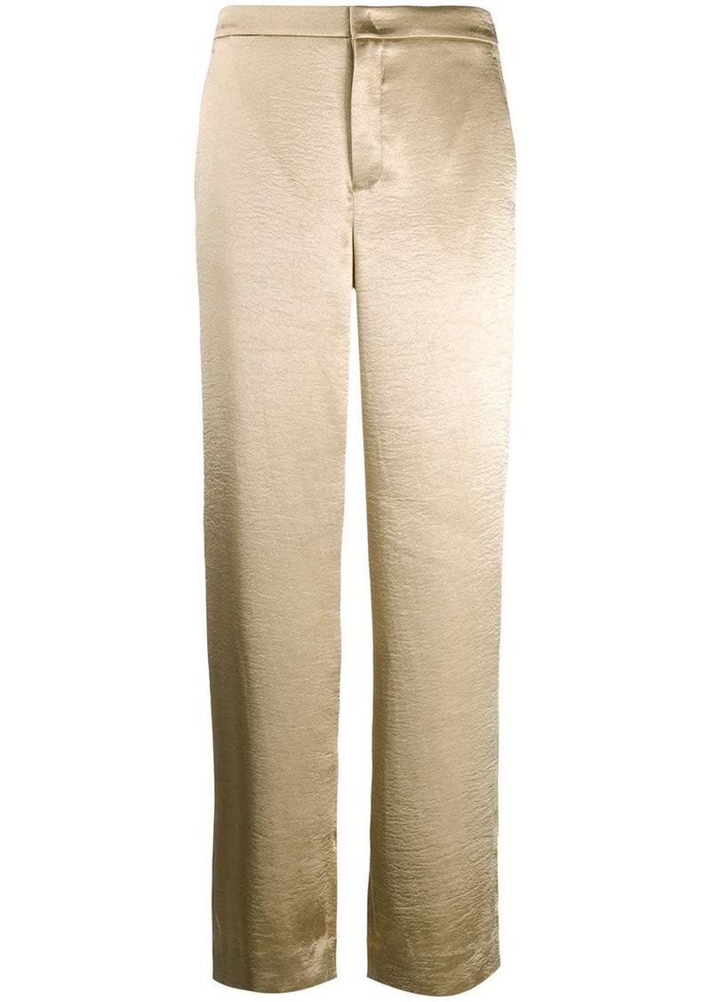 Vince metallic wide leg trousers