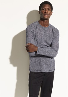 Vince Micro Stripe Long Sleeve Crew