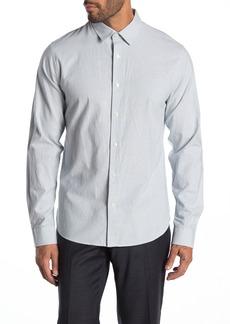 Vince Micro Stripe Print Classic Fit Shirt