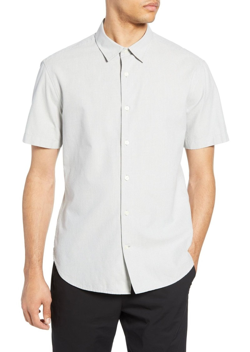 Vince Micro Stripe Slim Fit Shirt