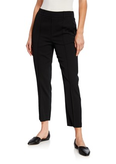 Vince Mid-Rise Stitch-Front Trousers