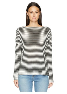 Vince Midi Stripe Off Shoulder Top