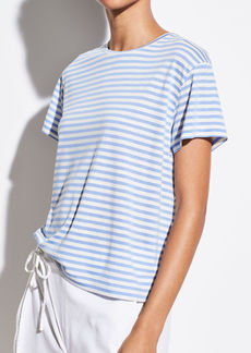 Vince Midi Stripe Short Sleeve Crew