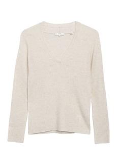 Vince Mini Cable Cashmere V-Neck Sweater